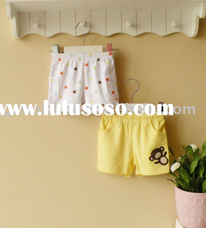 2011 summer baby clothing 100% cotton boy shorts 2pak