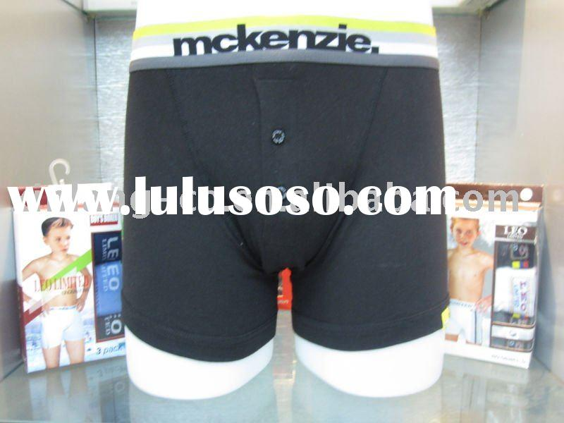 Black mens boxer shorts