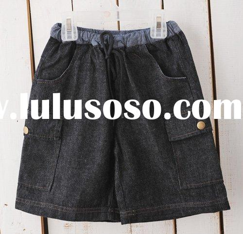 Boy's jean shorts with patch pockets