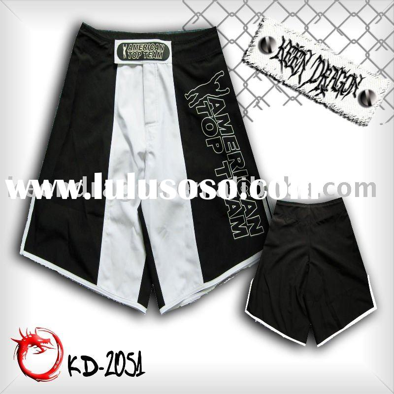 Men's apparel 4-way stretch printed mma fighting shorts