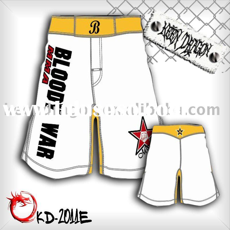 Men's boxing 4-way stretch printed cheap mma shorts