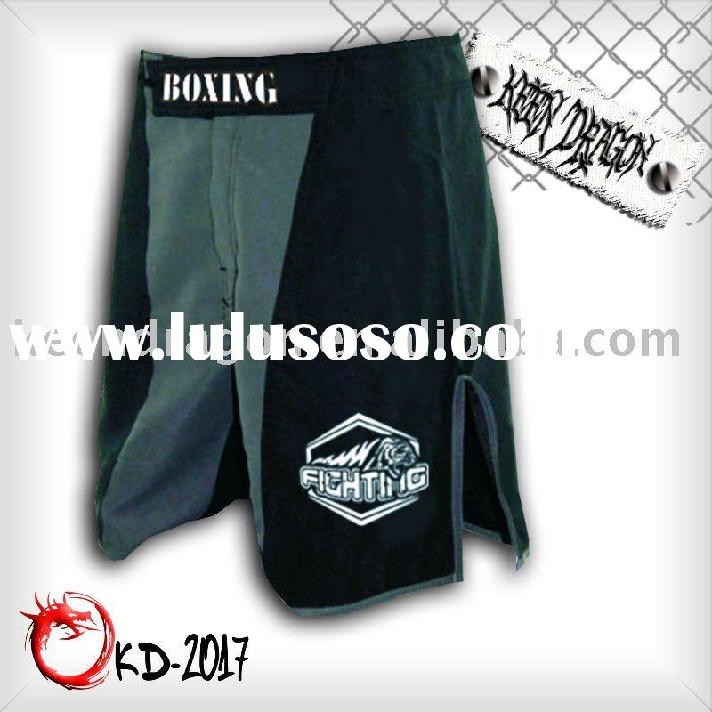 Men's boxing garment 4-way stretch printed mma shorts