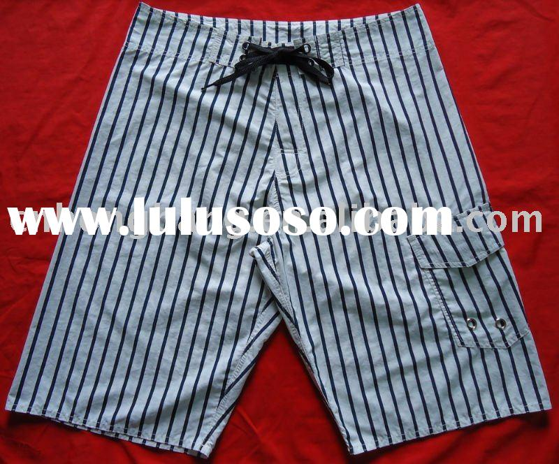striped print surf shorts