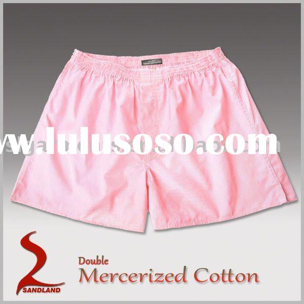 woven mens boxer shorts Double Mercerized cotton