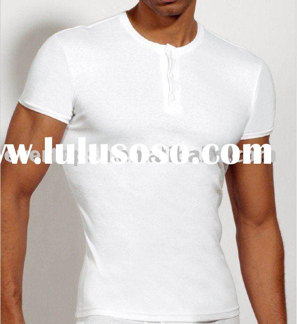 100% COTTON BASIC MEN'S T-SHIRT, FITNESS UNDERWEAR, MAN UNDERGARMENT,