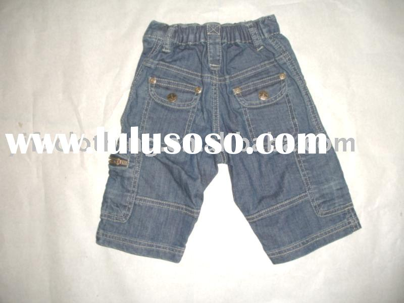 2011 children's wear 7/8 cargo short jeans pants