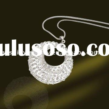 Fashion wholesale Sterling Silver flat round charms