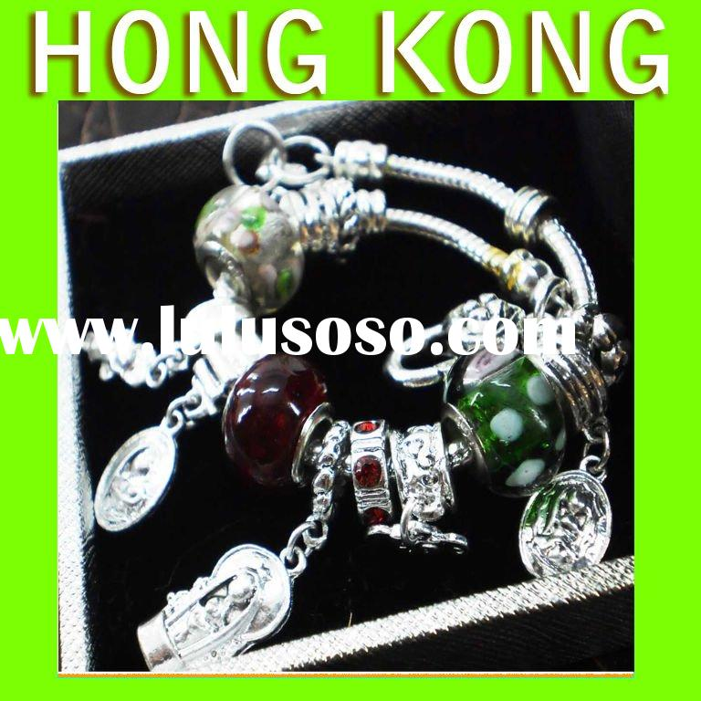 Free Sample Design charms Jewelry Wholsale Glass Beads Bracelets Jewelry stores A070