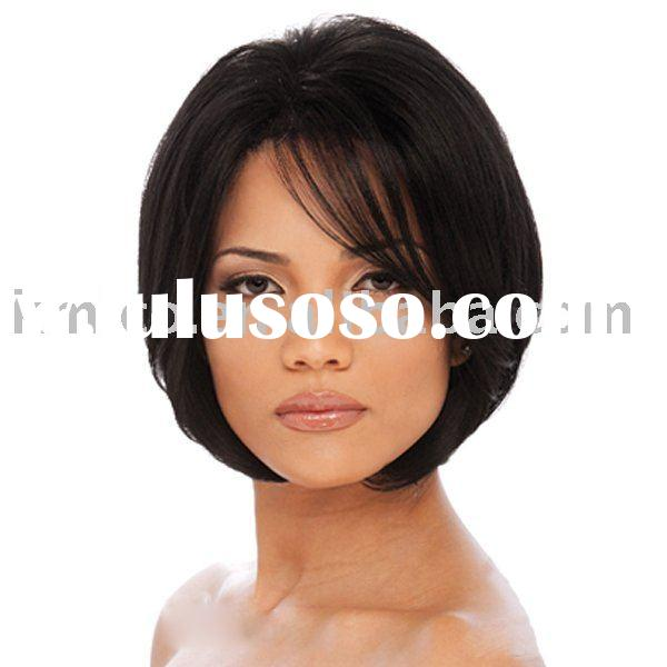 Stock human hair wigs bob cut women