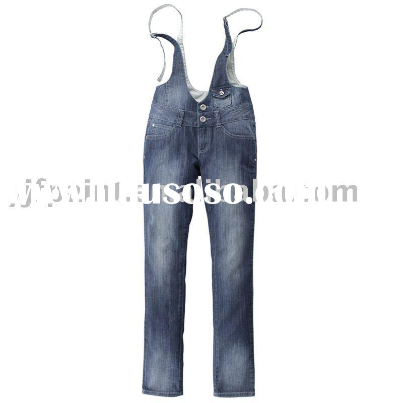 ladies jeans   casual jeans  denim jeans  ladies suspender jeans