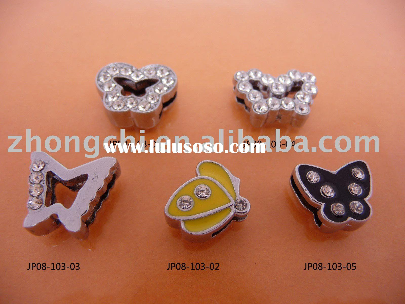 rhinestone slide charms for bracelets,phone straps,dog collars