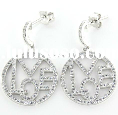 2011 fashion silver jewelry with micro pave setting
