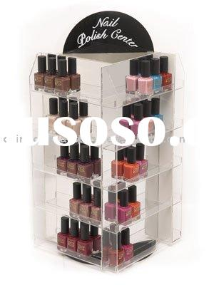 5-tier acrylic rotating nail polish display stand