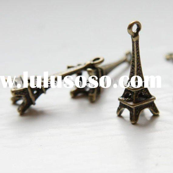 Bronze Antique Brass Base Metal Charms-Eiffel Tower 24x8mm Jewelry Findings Jewelry Accessories Nick