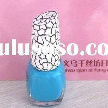 Crackle glaze nail polish