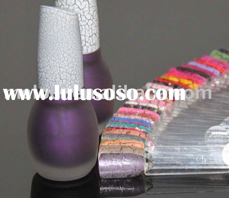 Crackle nail polish/cracked nail lacquer/ crack nail polish in violet color
