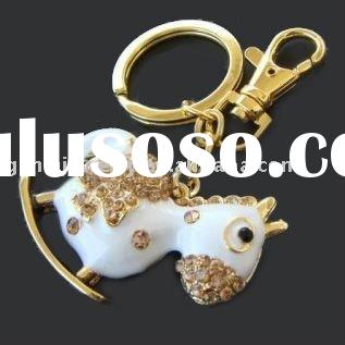 Fashion Key Chain with Little Rocking Horse Charm