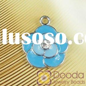 Fashion metal enamel charms, italian jewelry charms, key charms, lovely pendant charms