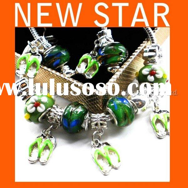 Handmade 2011 New Design Chamilia Gifts Ideas Beads Bracelet Earring Set Silver Jewelry  Free Sample