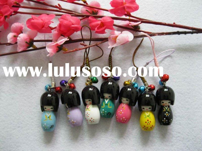 Japanese dolls cell phone straps cellphone charms Accept PayPal