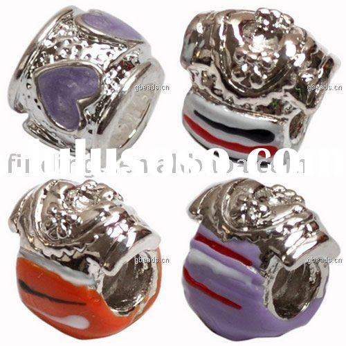 Metal alloy beads, Enamel charms,Wholesale beads, European style, Chinese style