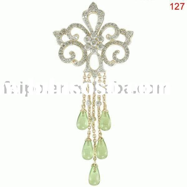 PERIDOT DIAMOND PENDANT 10k/14k/18k yellow/white/ gold pendant with gemstone/fashion pendant/gemston