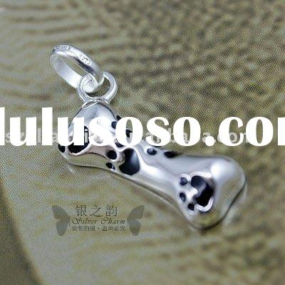 Silver Plated Bone Charms,925 Sterling Silver Jewelry LC046