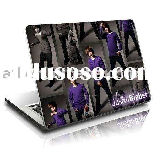 fashion Justin Bieber Promo vinyl laptop stickers,welcome customized