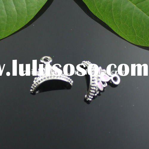 fashion enamel crown charms, classic noble jewerly charm
