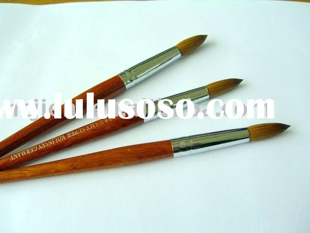 high quality professional kolinsky nail art  brush with 100%redwood handle