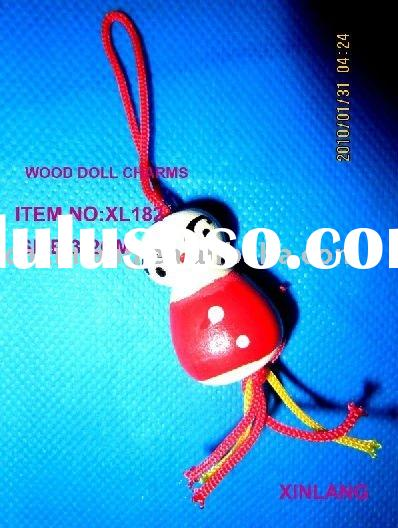 lucky chinese wooden doll charms
