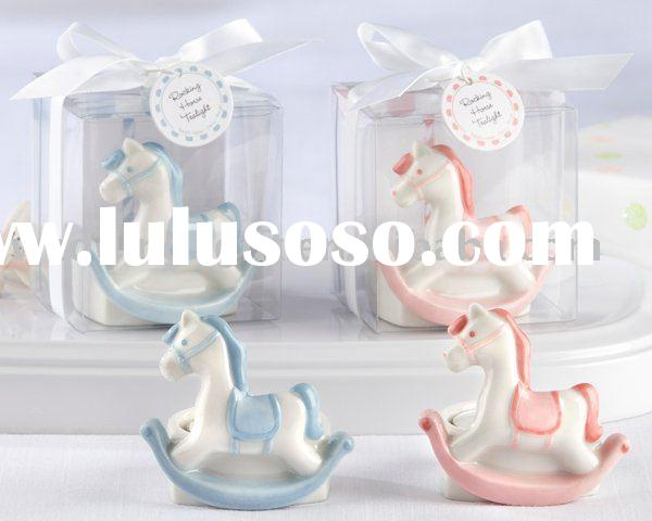 party supply of Rocking Horse Tealight Holder (Pink or Blue) decoration