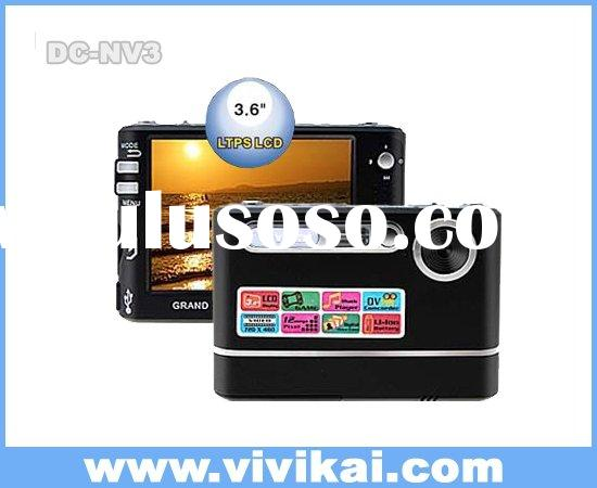 12.0MPDigital Camera with 3.6 inch LCD/Games/MP3/Electronic Photo Frame(DC-NV3)
