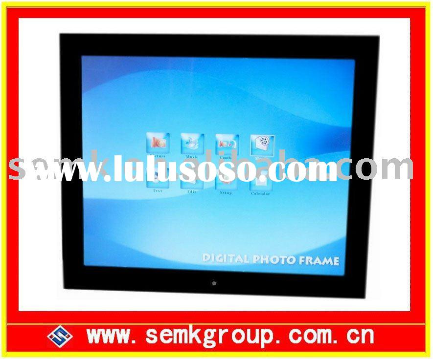 19inch large digital photo frame with AV-in AV-out function