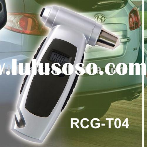 4 IN 1 Digital tire gauge (RCG-T04), (CAR tire pressure gauge, emergency hammer, pocket torch, strap