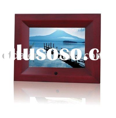 8inch wooden digital photo frame