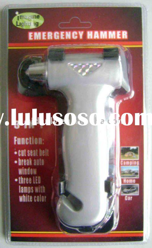 Auto emergency hammer with beacon light