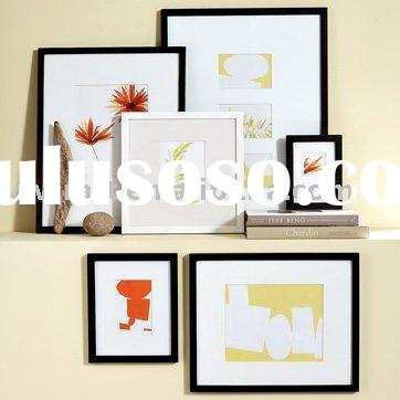 Black and white wooden wall picture frames