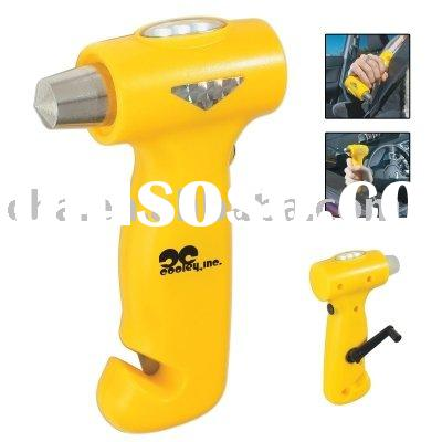 Car Auto Bus Escape Emergency Safety Hammer Tool with Light