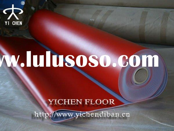 Foam Backing Table Tennis Pvc Flooring  In 4.5mm Thickness