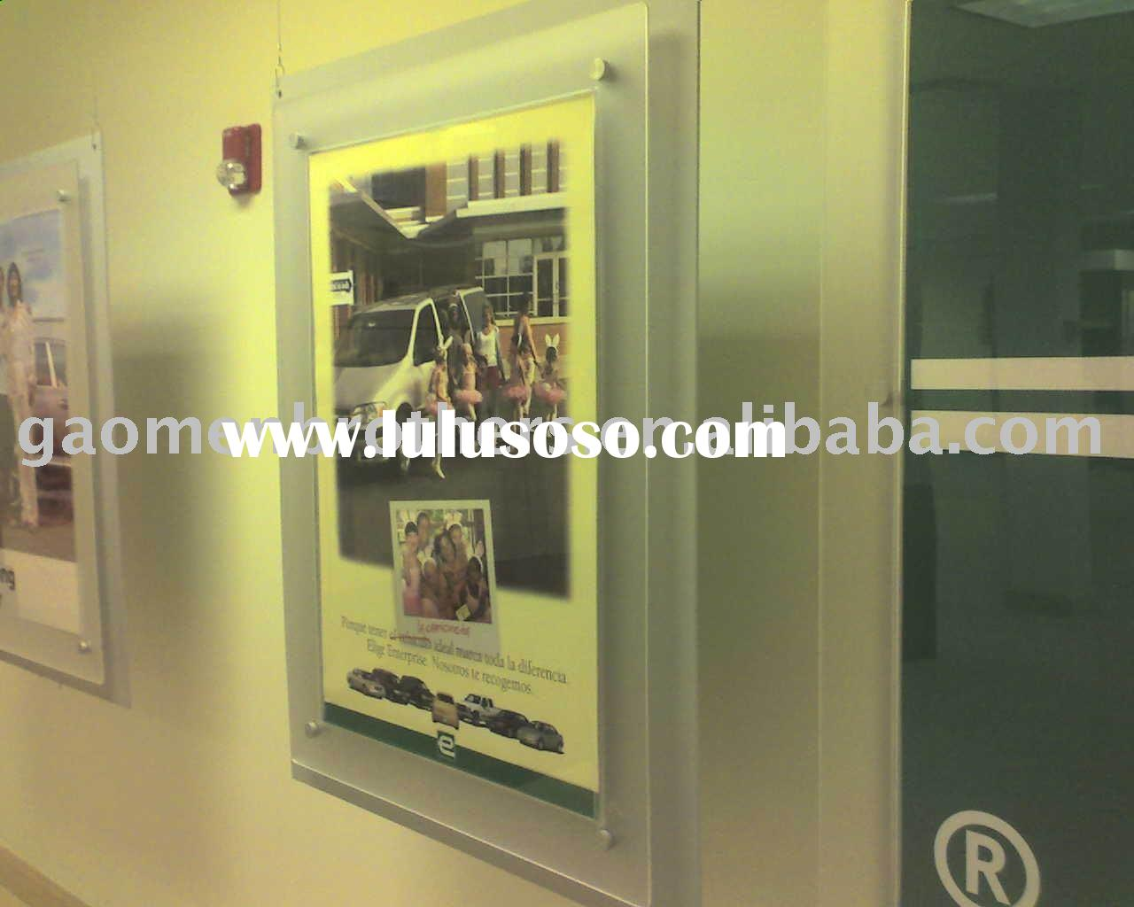 Large Acrylic Poster Frame with Non-glare Surface