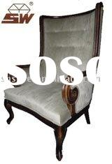 S020 Upholstered chair with solid wood frame