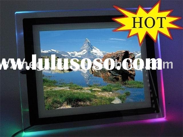 digital picture frame with 7 color LED light