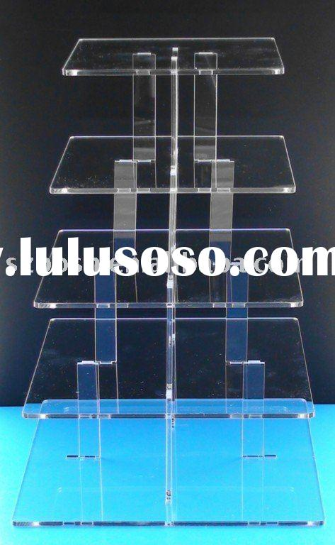 Acrylic Cupcake Stand,5 Tier Cupacake Stand,Square Cupcake Display