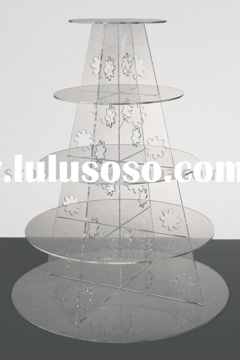 Acrylic Cupcake Stand,5 Tier Cupcake Holder,Acrylic Display Stand