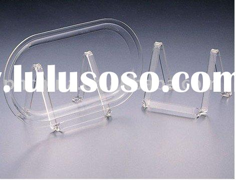 Acrylic Plate or Card Stand,Acrylic Tabletop Display Stand