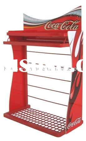 Advertising metal outdoor display banner stand shelf board counter