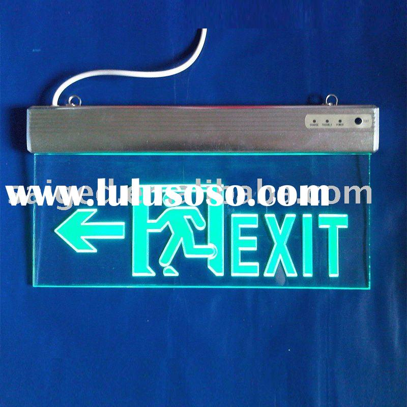 Ceiling Acrylic Emergency LED Exit Sign in Zhongshan