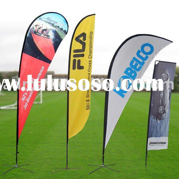 Easy Mobile Portable Outdoor Flying, Feather Beach Banner Flag stand for Sport Events, Promotion and