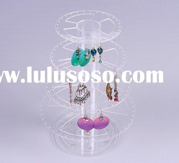 Revolving Acrylic Earring Display Stand